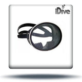 Single lens oval dive mask