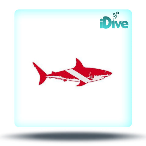 Shark Dive Flag Sticker