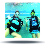 girls doing try scuba