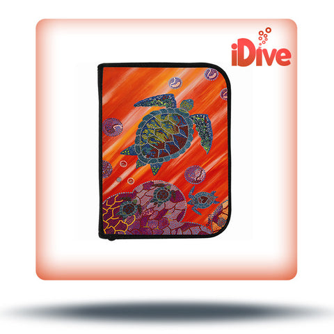 3-Ring Red Turtle Log Book Binder