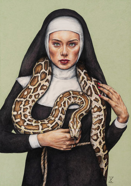 Signed Ltd. Edition Print | Nun the Wiser