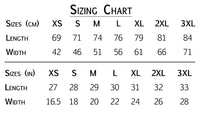 size chart for t-shirt