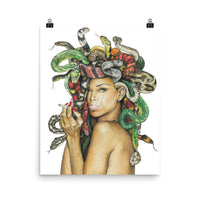 medusa poster of medusa artwork, beautiful medusa wall art, medium size