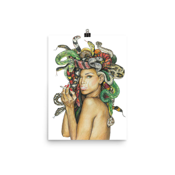 medusa poster of medusa artwork, beautiful medusa wall art, small size