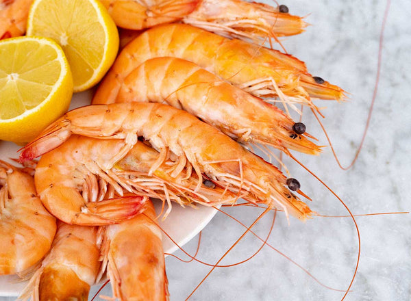 Cooked, Shell-on King Prawn Crevettes (Frozen, 900g)