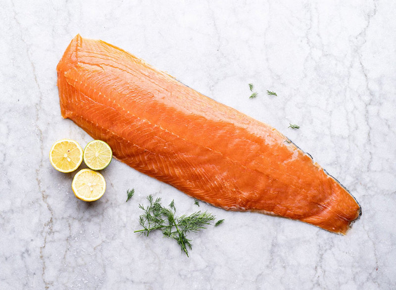 Whole Side of Long Sliced Smoked Salmon (900g-1.2kg)