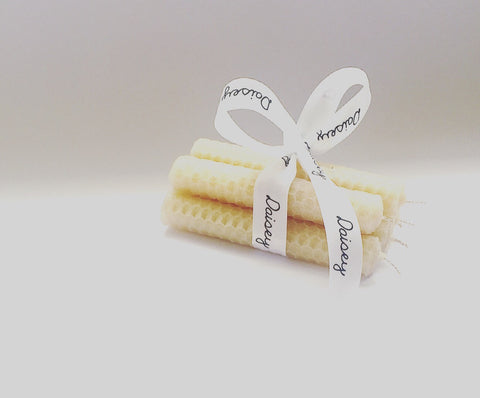 Honey Beeswax Pillar Candle Bundles By Daisey