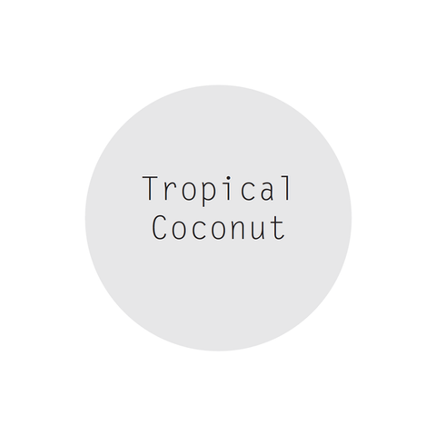 Tropical Coconut Perfumed Soy Candle in Rose