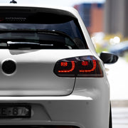 VW Golf Mk6 Sequential LED Tail Lights - Limited Edition Midnight Red