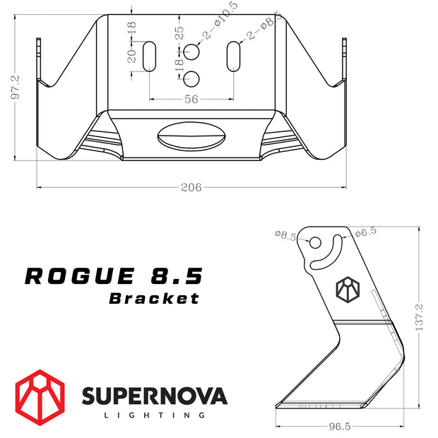 "Supernova Rogue 8.5"" LED Driving Lights - Polar"