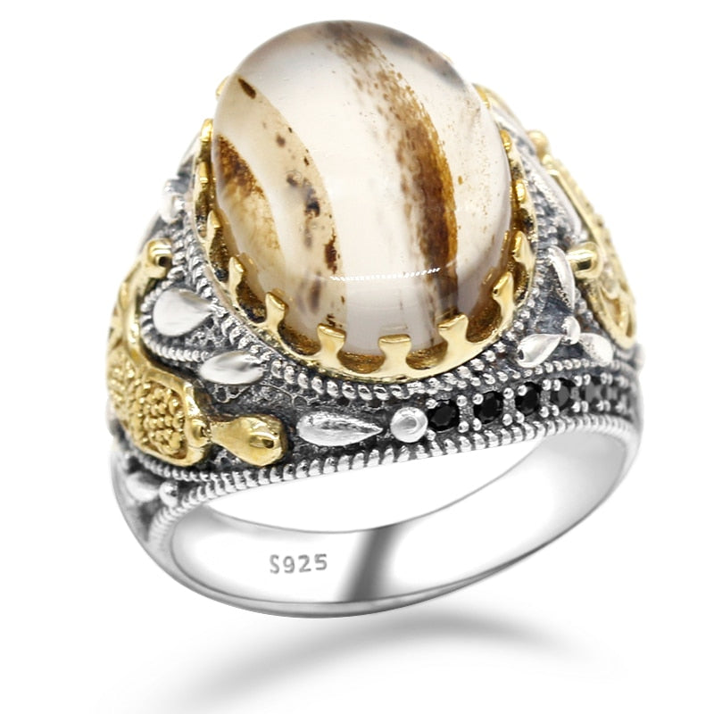 Marbled Stone Ring