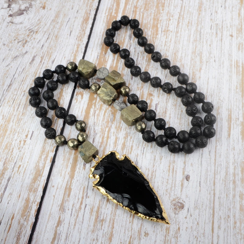 Handmade Black Obsidian Necklace