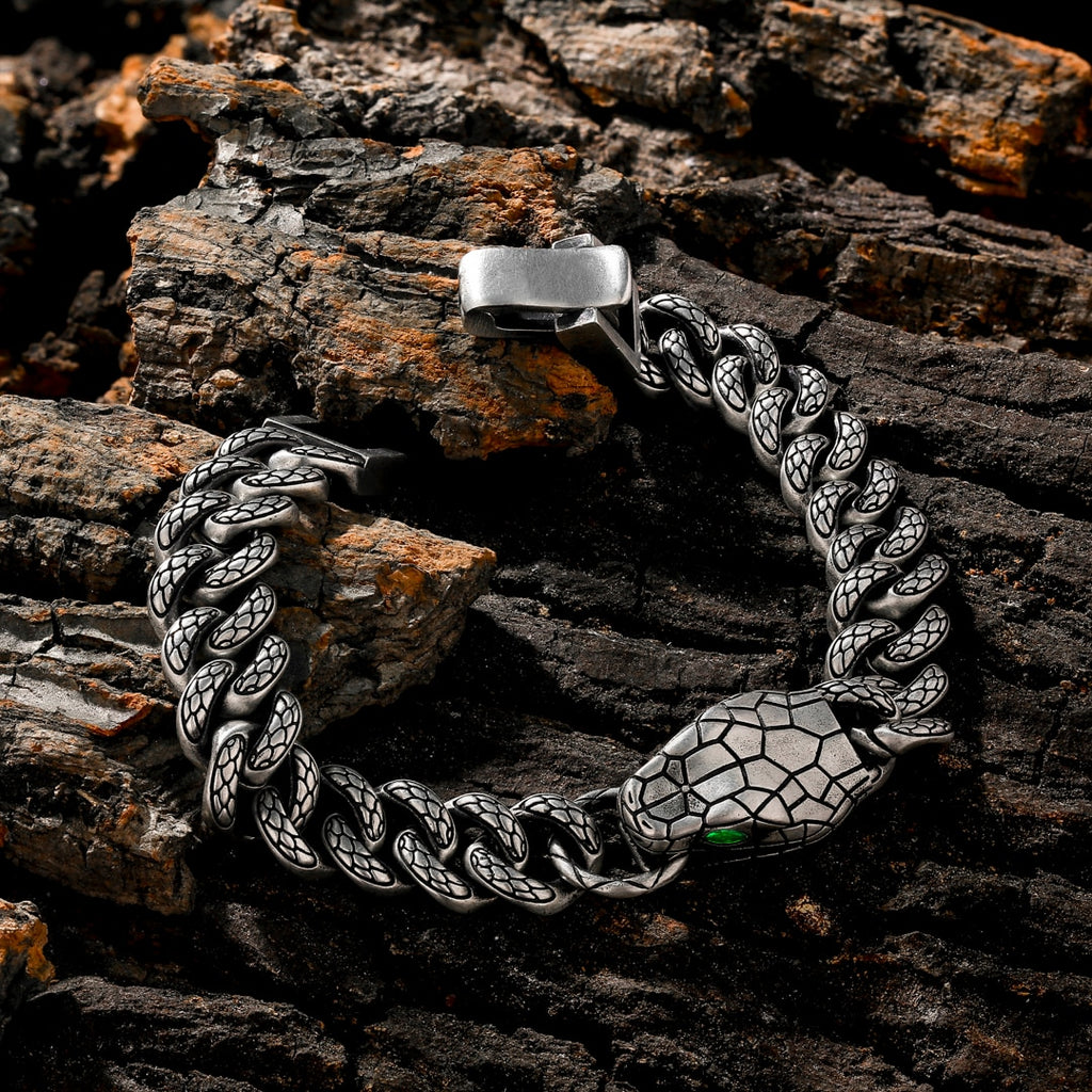 Snake Eyes Cuban Bracelet