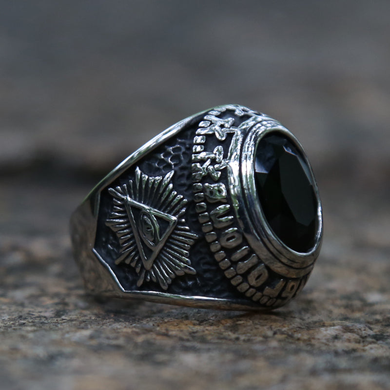 Black Eye Of Horus Ring