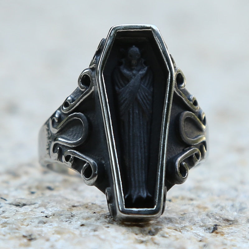 Black Coffin Ring