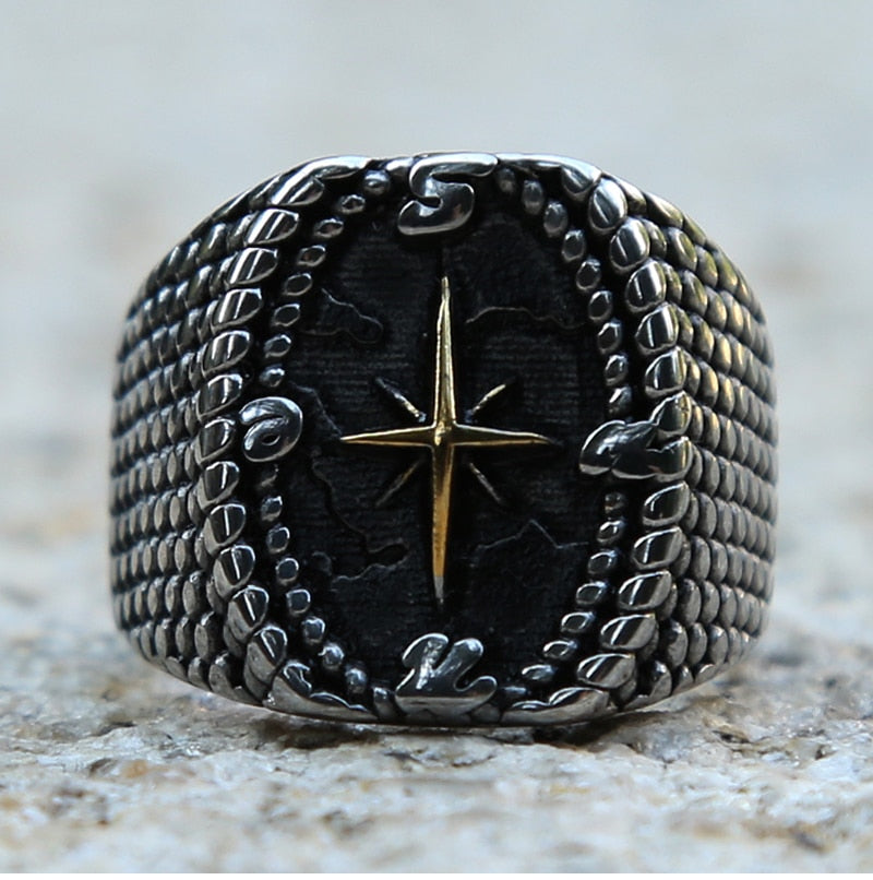 Gold Compass Ring