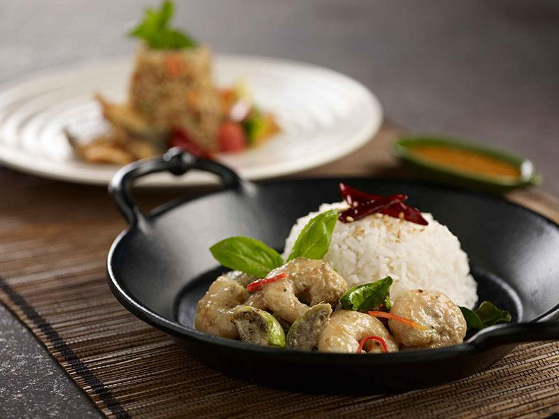 Green Curry Prawn with Rice