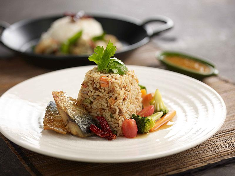 Thai Fried Rice with Saba Fish