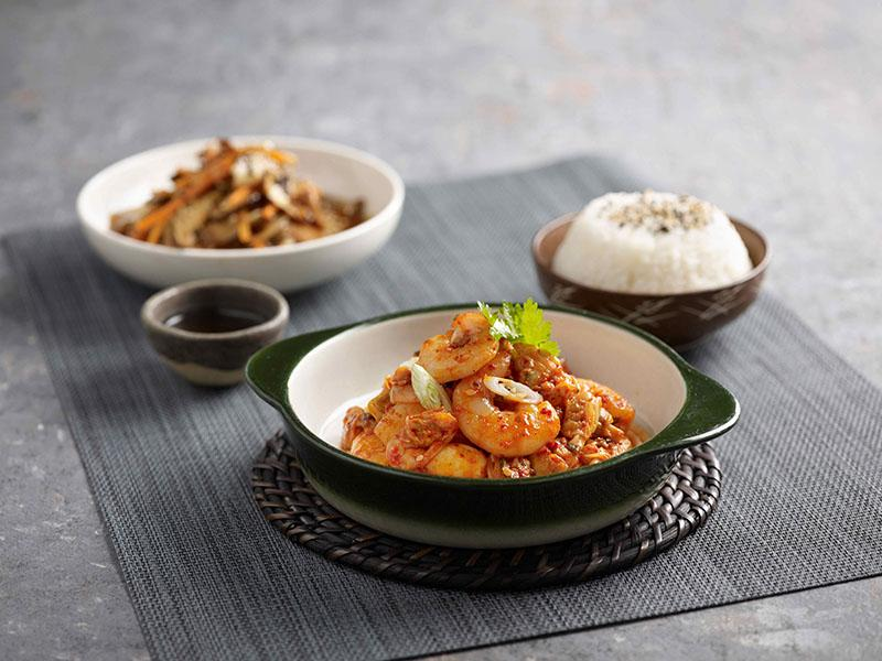 Spicy Seafood with Rice