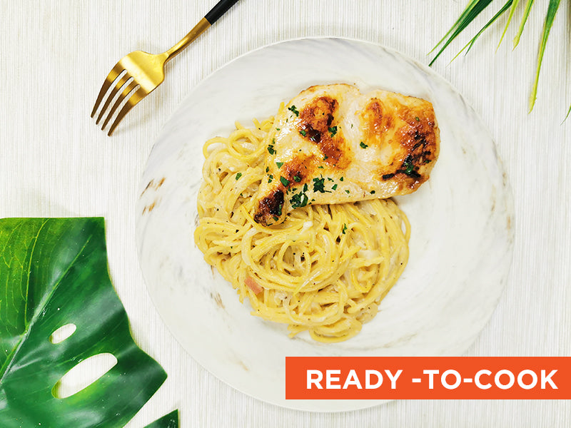 Grilled Chicken Cream Pasta Cooking Kit
