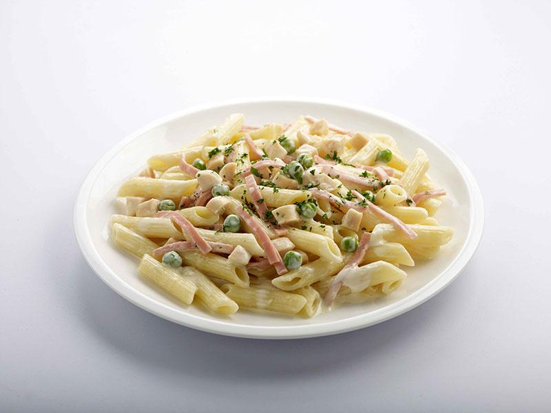Chicken Ham Penne with Cream Sauce