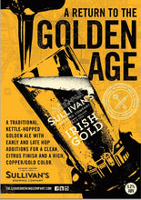 Load image into Gallery viewer, Sullivans Irish Gold Ale (Case of 24 * 440ml Cans)
