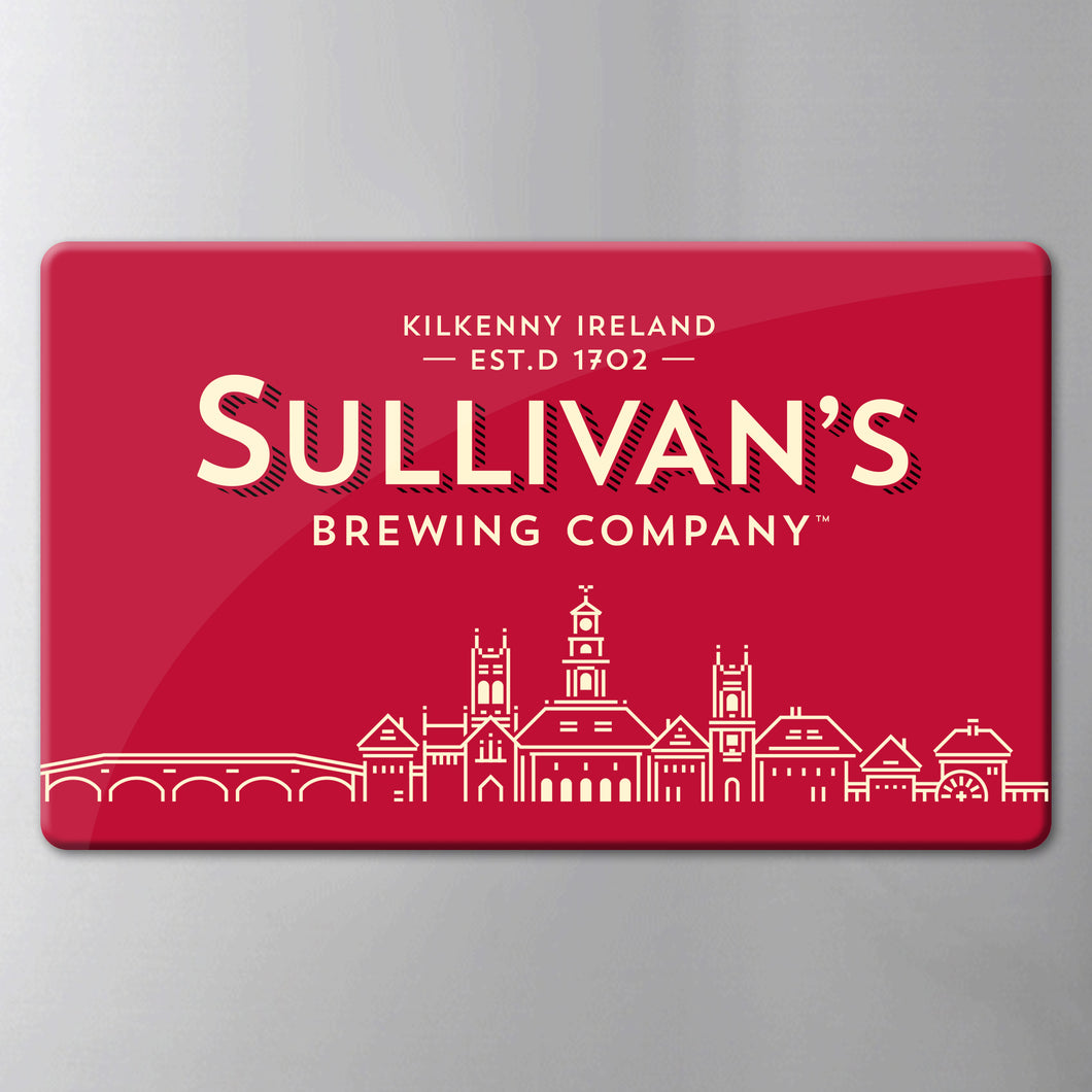 Sullivan's Classic Red Logo Fridge Magnet
