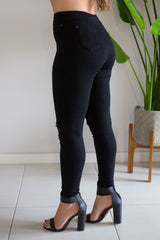 Riptide Freedom Jegging - Black with rips