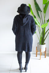 Emilia Hooded Cardi - Black