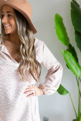 Taupe Leopard Tunic Dress