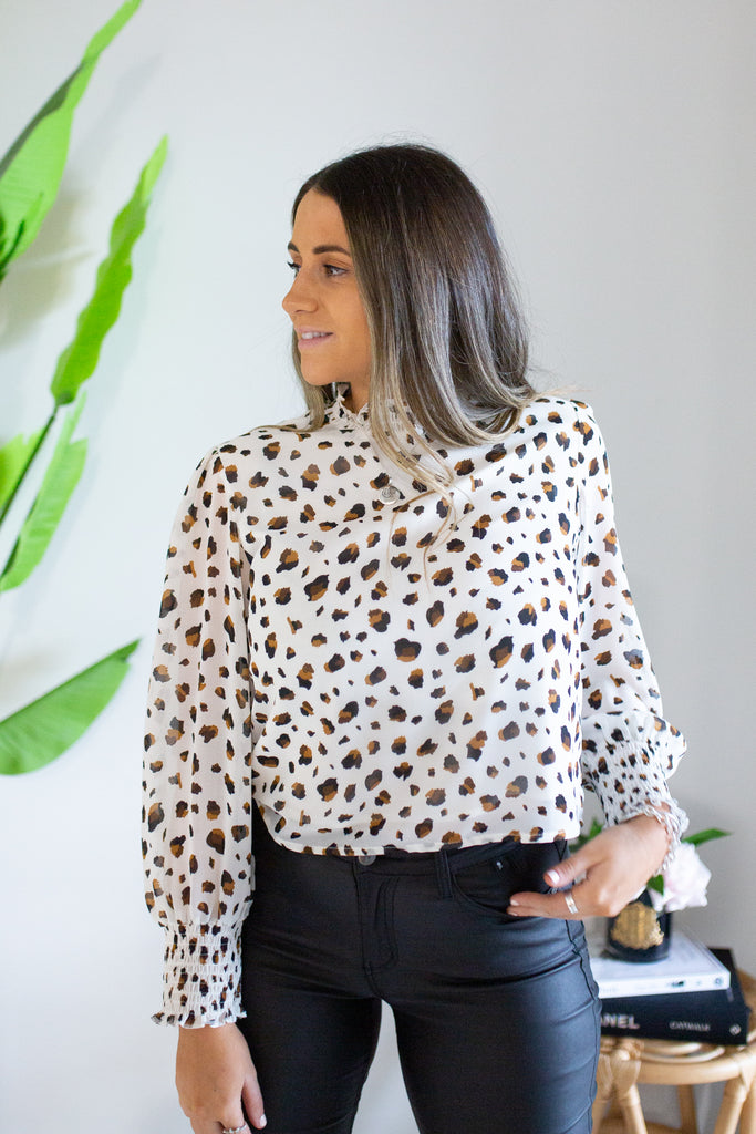 Leopard Cropped Top