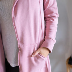 Naomi Hooded Cardigan - Pink