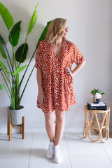 Oversized Pocket Dress - Safari Rust