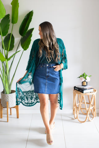 Lace Cape - Jade