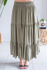 Layer Maxi Skirt - Khaki