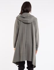 Naomi Hooded Cardigan - Khaki