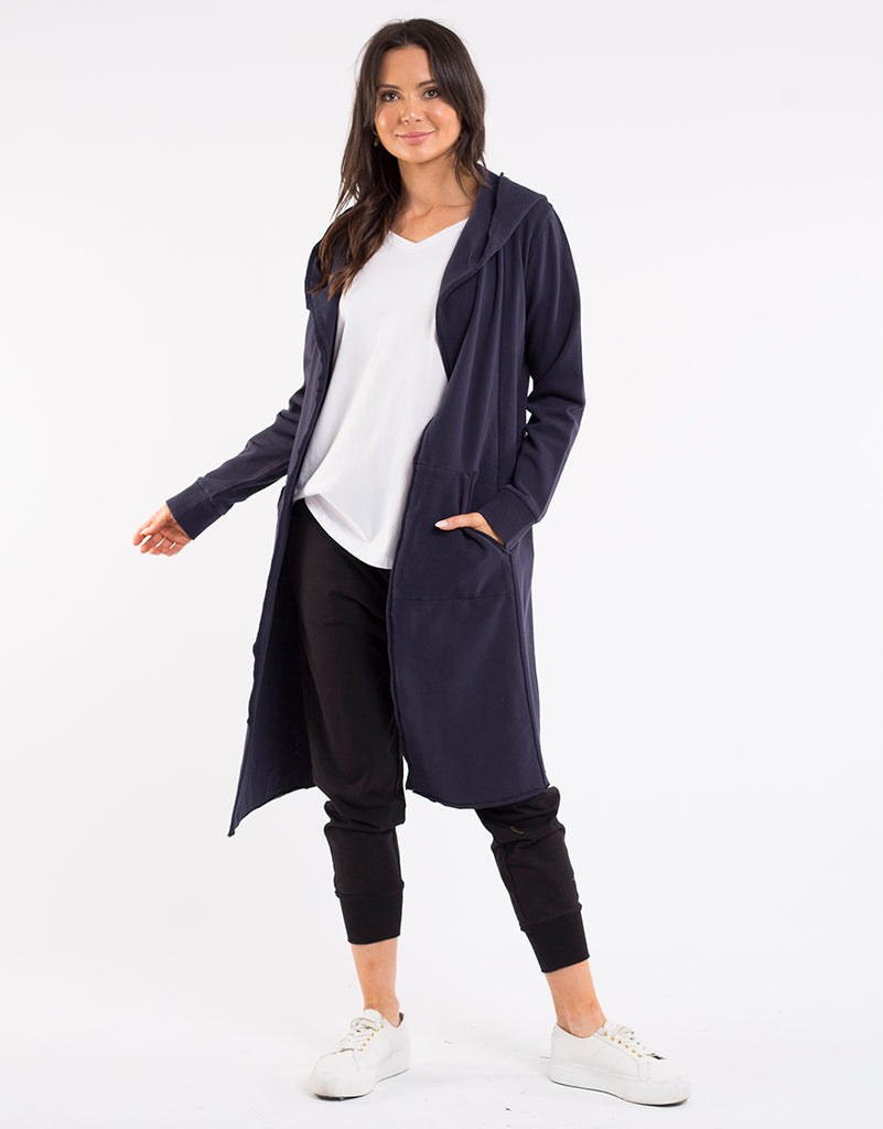Naomi Hooded Cardigan - Navy
