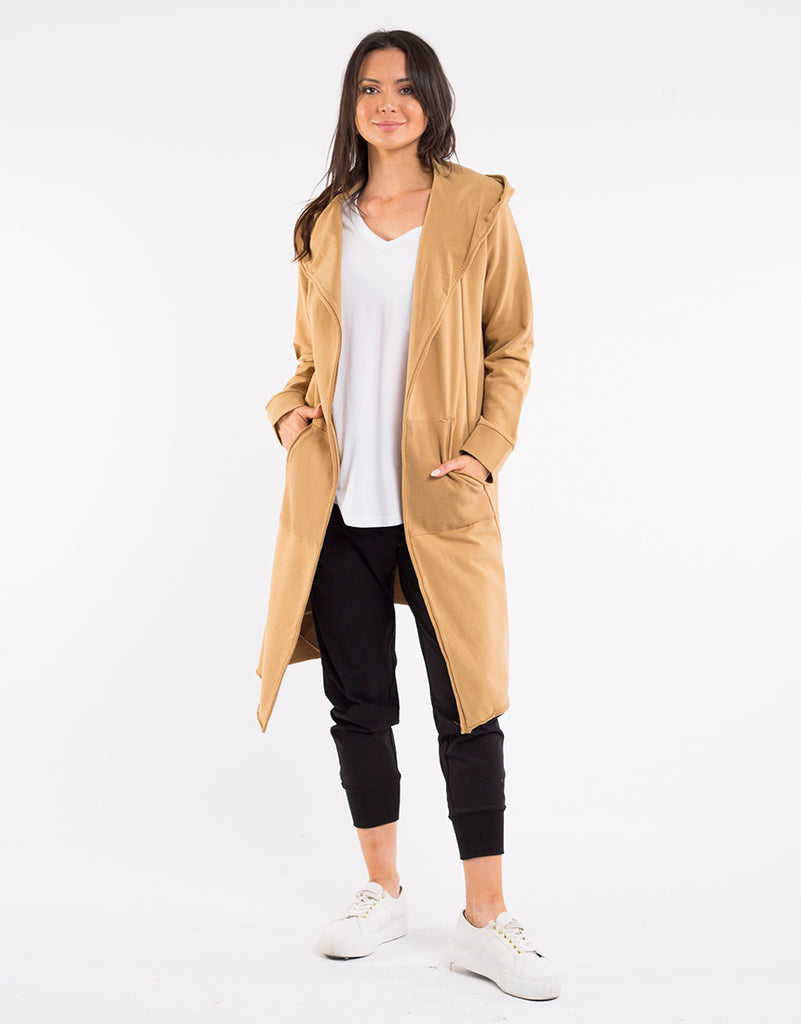 Naomi Hooded Cardigan - Mustard
