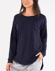 Mackenzie L/S Top - Navy