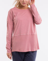 Fundamental Rib L/S Top - Dusty Pink
