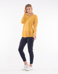 Fundamental Rib L/S Top - Mustard