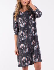 Butterfly Snow Dress - Charcoal