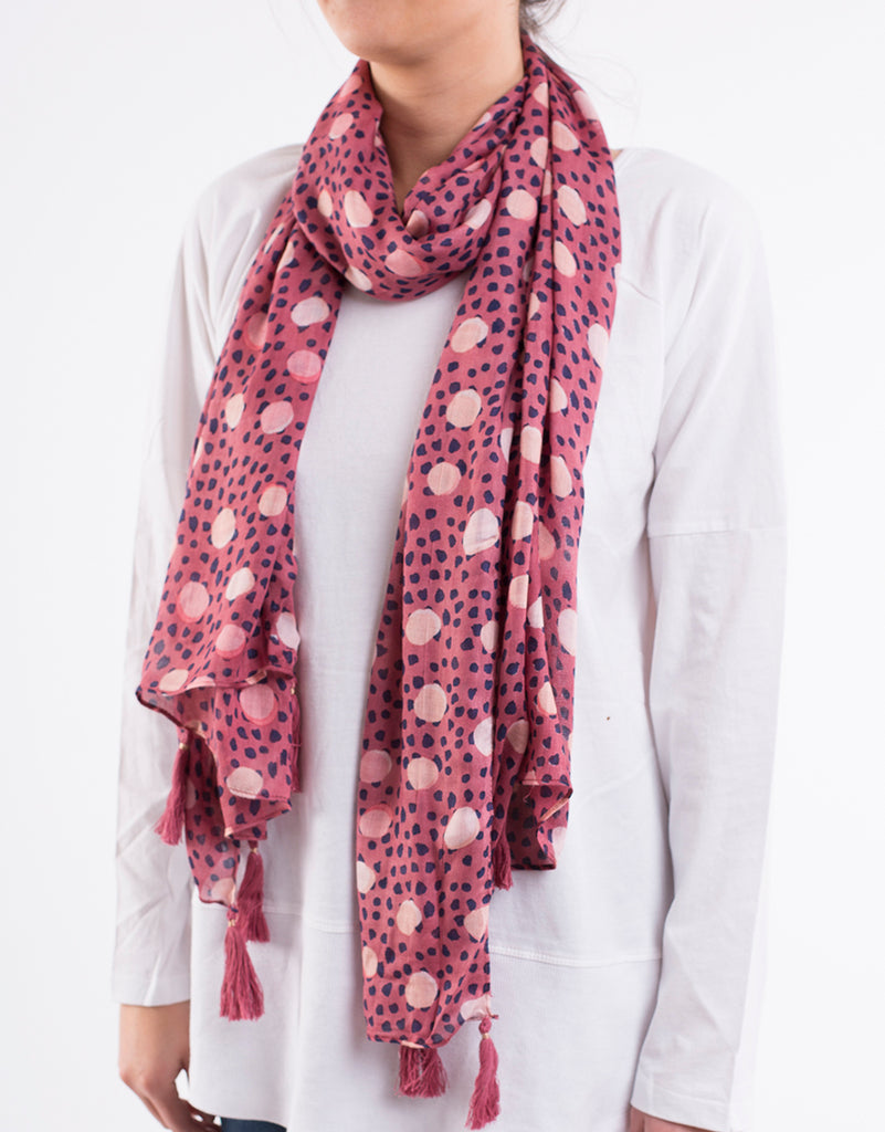 Cedar Spot Scarf - Multi-Colour