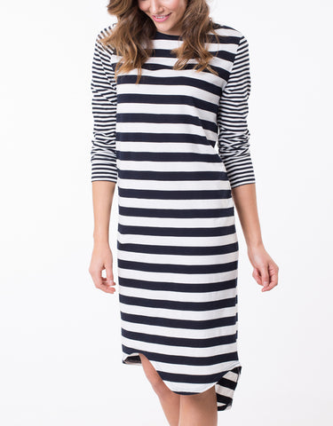 Blocked Midi Dress