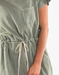 Harper Dress - Washed Khaki