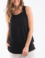 Fundamental Rib Tank - Washed Black