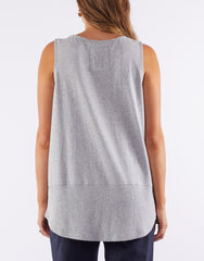 Fundamental Rib Tank - Grey Marle