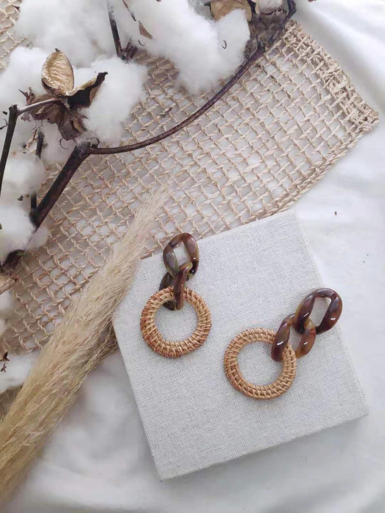 Natural Weave Earring