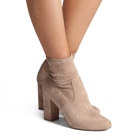 Halsey Boot- Stone Suede