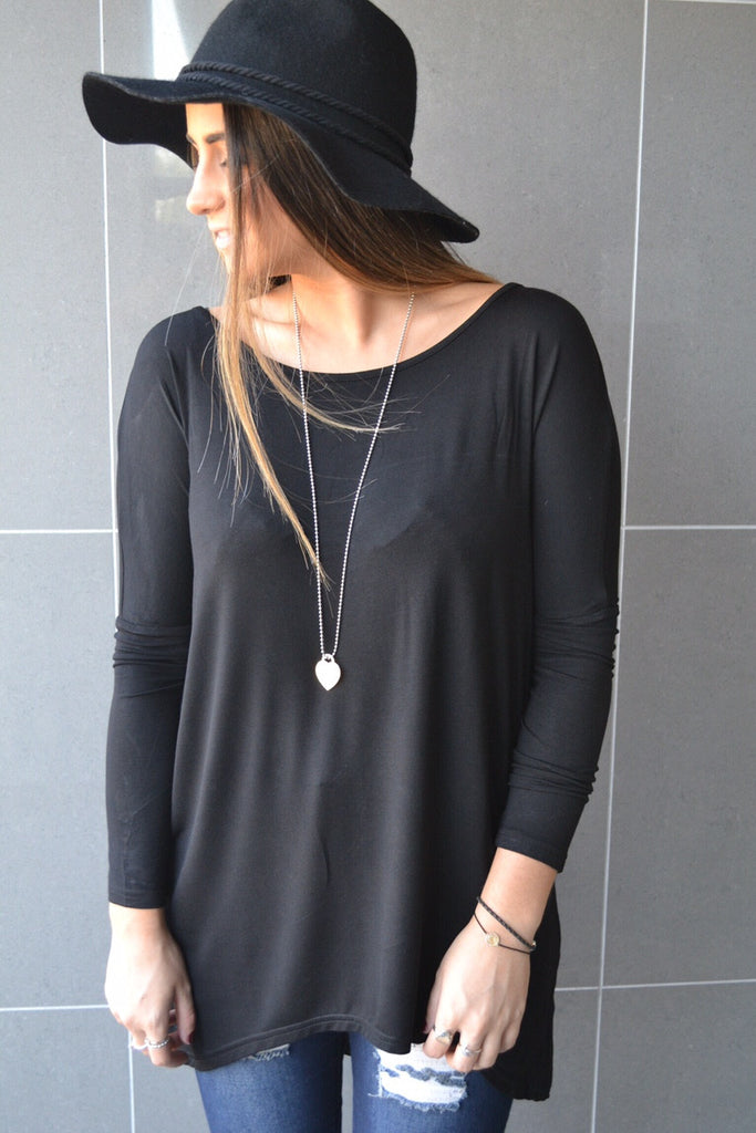 Slouch top - Black